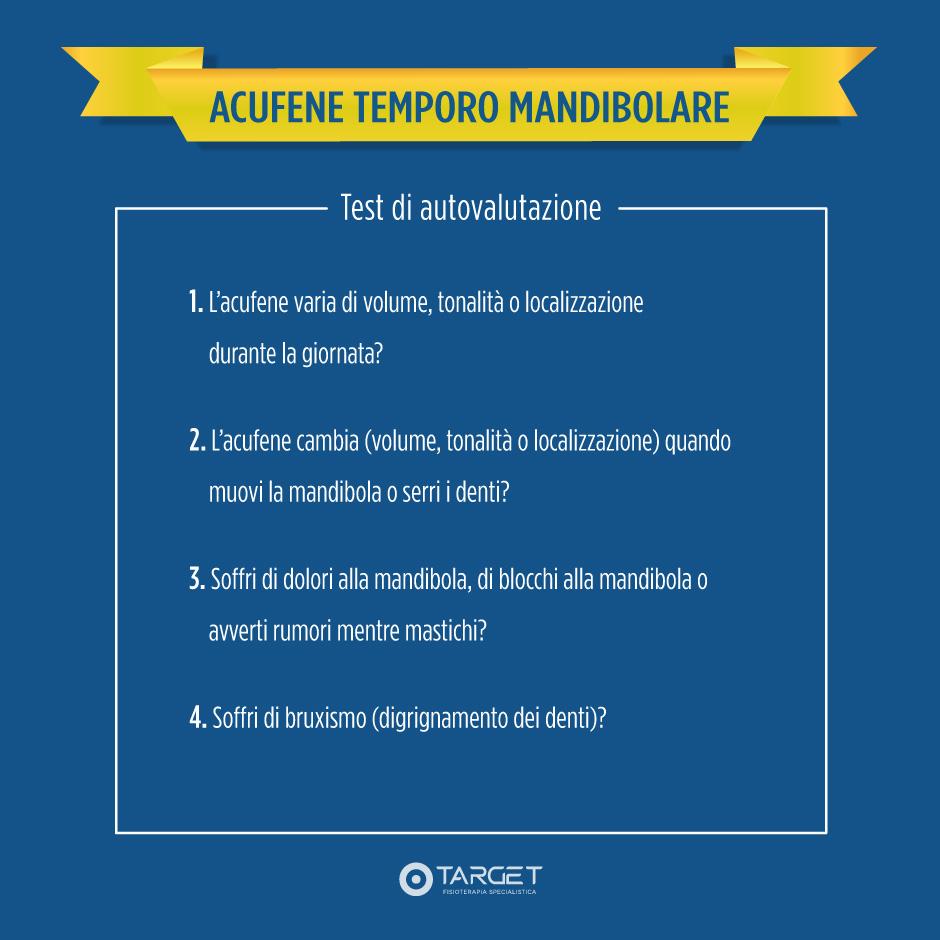 acufene mandibola: il test